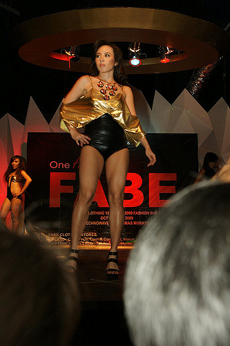 One Hot Fabe: Gold Lounge Swimsuit