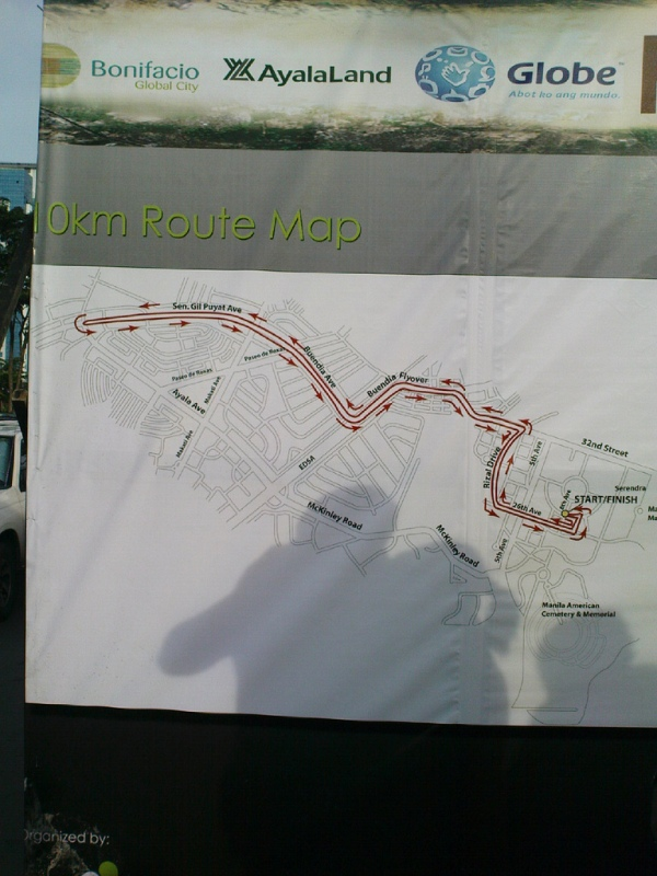 Run for Home - route map
