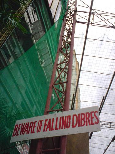 Beware of Falling Dibres [sic]