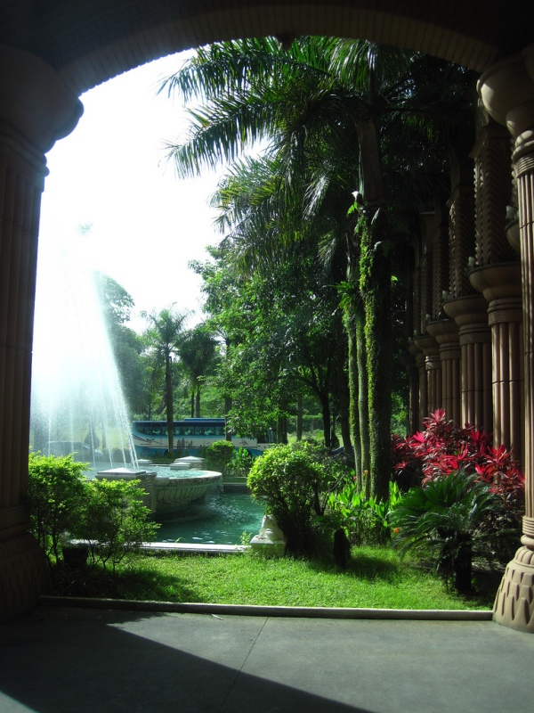 Malaysia: Marriott Putrajaya outer court and fountain